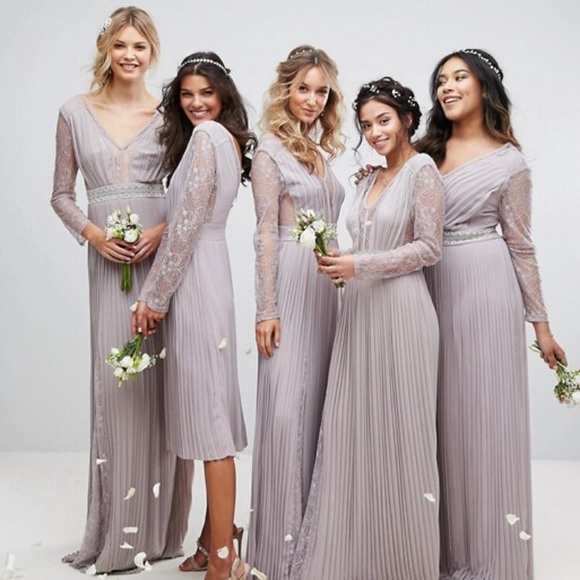 b519fa0f2d7 ASOS lavender bridesmaid dress